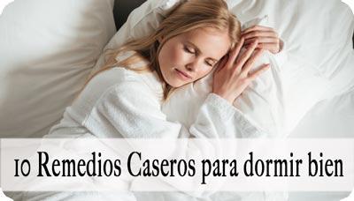 Remedio casero para dormir